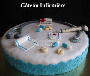 """Recette Gâteau """"Infirmière"""" en Pâte à Sucre"""