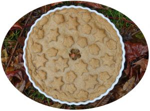 Recette Tourte au potimarron, lentilles, marrons & cranberries