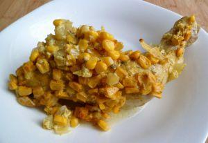 Recette Cuisses de poulet marinées au maïs