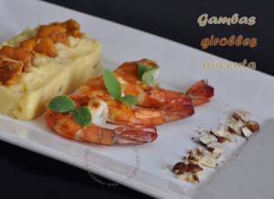Recette Gambas et polenta