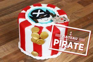 Recette Gâteau Pirate en pâte à sucre