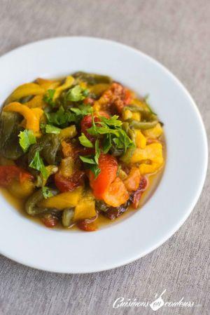 Recette Salade de poivrons à l'ail et au cumin