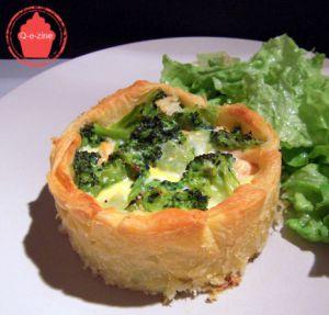 Recette Petites quiches brocoli & saumon