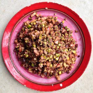 Recette Haroset comme une pâte de fruits - Pâque juive (cuisine juive)