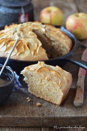 Recette Gâteau rustique aux pommes & à la vanille #vegan