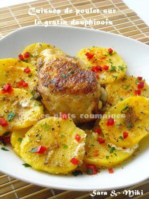 Recette Cuisses de poulet sur le gratin dauphinois