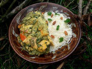 Recette Curry de saumon au potimarron et épinards