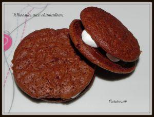 Recette Whoopies aux chocolat et chamallows