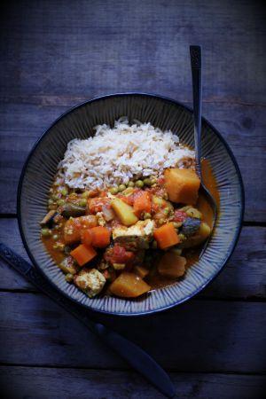 Recette Curry de légumes au tofu