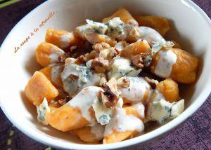 Recette Gnocchis de butternut à la Fourme d'Ambert et aux noix