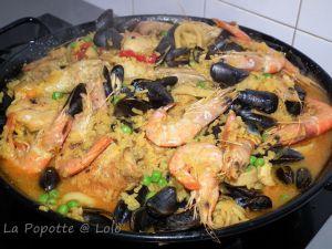 Recette Paella aux fruits de mer et poulet