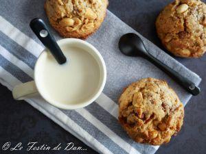 Recette Cookies Cacahuète, Chocolat et Eclats de Caramel