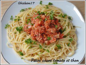 Recette Pâtes sauce tomate et thon