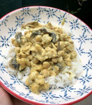 Recette Curry de pois chiches aux champignons