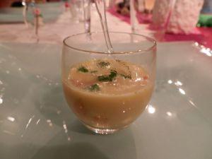 Recette Capuccino de coquilles St Jacques au curry et coriandre