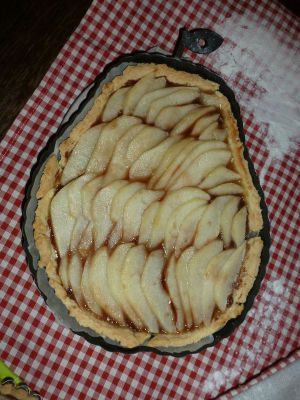 Recette Tarte aux poires pralinée