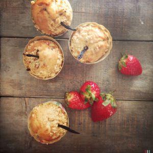 Recette Muffins à la fraise (ode aux fraises de Dolors)