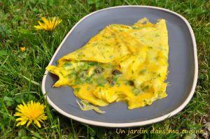 Recette Omelette boutons de pissenlit