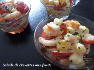 Recette Salade de crevettes aux fruits