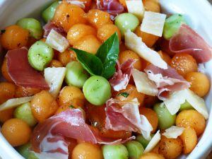 Recette Farandole de melon et concombre
