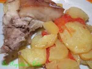 Recette Rouelle de Porc aux Tomates et Pommes de Terre