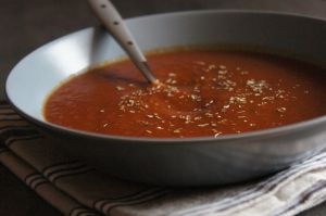 Recette Soupe aux trois tomates