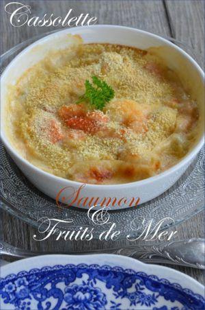 Recette Cassolette saumon et fruits de mer