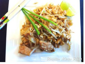 Recette Porc : Pad Thai au porc