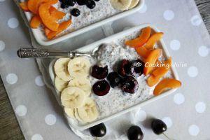 Recette Overnight porridge au muesli, chia et fruits