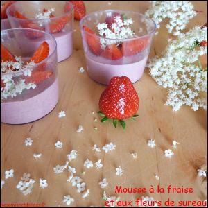 Recette Mousse à la fraise et aux fleurs de sureau