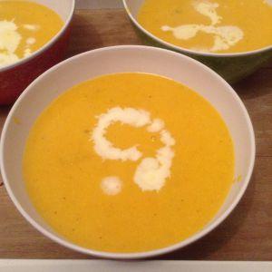 Recette Soupe épicée à la butternut