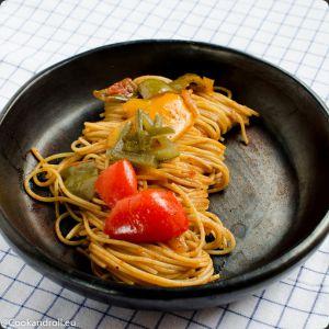 Recette Spaghetti aux poivrons et paprika