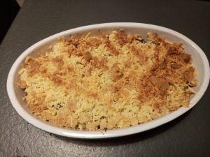 Recette Crumble de courgettes à l'extra crisp du cookéo