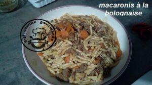 Recette Macaronis à la bolognaise (cookéo)