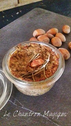 Recette Monsieur Cuisine ou pas..... le Pâté de campagne végétarien aux noisettes