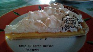 Recette Tarte citron meringuee (maison)
