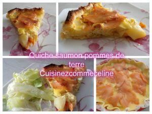 Recette Quiche saumon pommes de terre