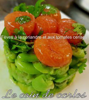 Recette Fèves à la coriandre et aux tomates cerises
