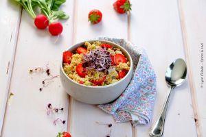 Recette Salade de couscous aux fraises et à la menthe
