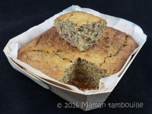 Recette Cake à la banane et graines de chia {sans gluten}