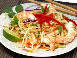 Recette Salade de papaye verte à la crevette