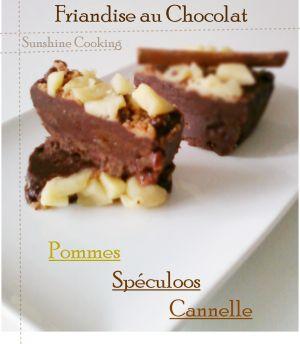 Recette Friandise au Chocolat,Pommes,Cannelle et Spéculoos