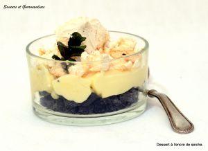 Recette Sablés à l'encre de seiche, crème légère au citron