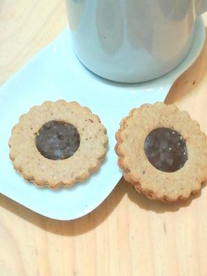 Recette Sablé au chocolat à la farine de chataigne, sirop d'érable et beurre de cacahuète/ recette sans gluten