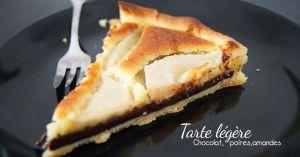 Recette Tarte poire chocolat amandes