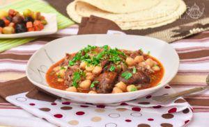Recette Chtitha bouzellouf, tête de mouton en sauce