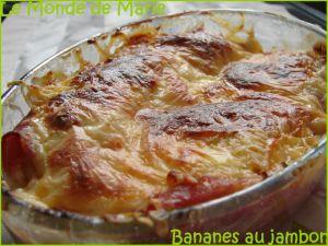 Recette Bananes au Jambon