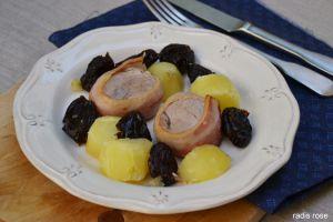 Recette Filet mignon de porc au bacon et pruneaux