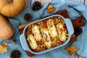 Recette Gratin de crozets à la butternut, bacon et fromage