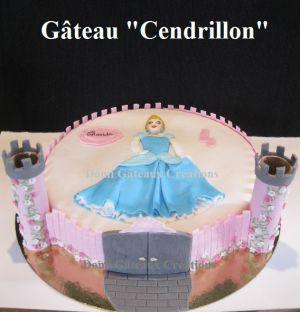 """Recette Gâteau """"Cendrillon"""" en Pâte à Sucre"""